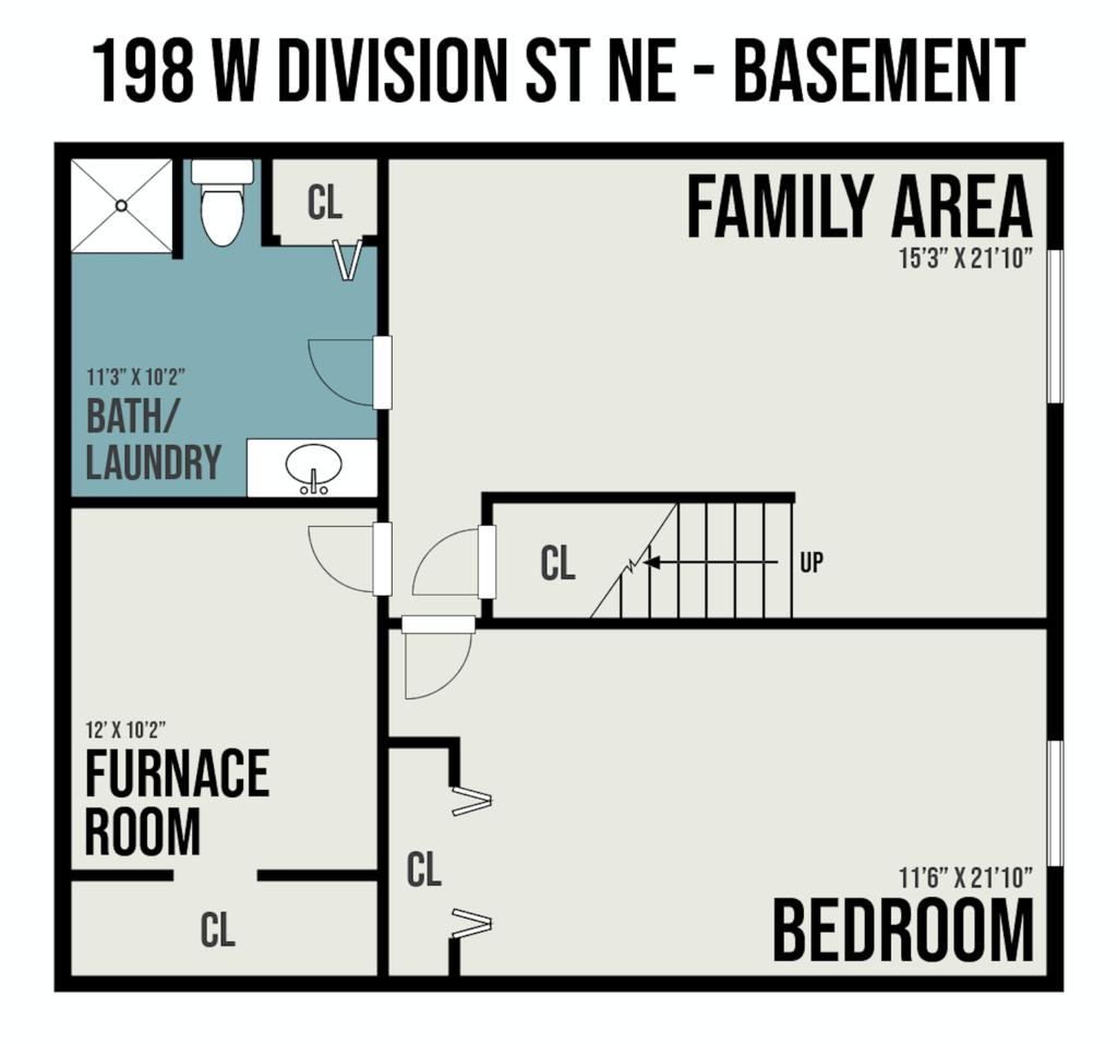 3 bedroom basement floor plan